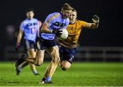 22 January 2020; Ray Connellan of UCD in action against Paddy Small of DCU Dóchas Éireann during the Sigerson Cup Semi-Final match between DCU Dóchas Éireann and UCD at Dublin City University Sportsgrounds in Glasnevin, Dublin. Photo by Ben McShane/Sportsfile