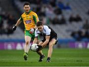 19 January 2020; Aaron Branagan of Kilcoo in action against Ian Burke of Corofin during the AIB GAA Football All-Ireland Senior Club Championship Final between Corofin and Kilcoo at Croke Park in Dublin. Photo by Piaras Ó Mídheach/Sportsfile
