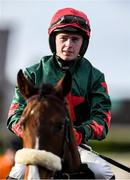 15 January 2020; Jockey Aidan Kelly prior to the Ladbrokes Mares Maiden Hurdle at Punchestown Racecourse in Kildare. Photo by Harry Murphy/Sportsfile