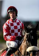 15 January 2020; Jockey Robbie Power prior to the Ladbrokes Mares Maiden Hurdle at Punchestown Racecourse in Kildare. Photo by Harry Murphy/Sportsfile