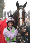 23 January 2020; Rachael Blachmore with Aione after winning the Connolly's Red Mills Irish EBF Ladies Auction Maiden Hurdle at Gowran Park in Kilkenny. Photo by Matt Browne/Sportsfile
