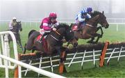 23 January 2020; Apple's Jade, left, with Davy Russell up, jumps alongside Killultagh Vic, centre, with Danny Mullins up, and Mary Frances, with Sean Flanagan up, during the John Mulhern Galmoy Hurdle at Gowran Park in Kilkenny. Photo by Matt Browne/Sportsfile