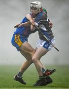 23 January 2020; Mickey Mahoney of Waterford IT in action against Gary Cooney of Mary Immaculate College during the Fitzgibbon Cup Group A Round 3 match between Mary Immaculate College and Waterford IT at MICL Grounds in Limerick. Photo by David Fitzgerald/Sportsfile