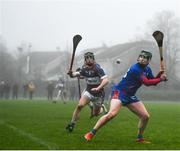 23 January 2020; Cathal Bourke of Mary Immaculate College in action against Stephen Condon of Waterford IT during the Fitzgibbon Cup Group A Round 3 match between Mary Immaculate College and Waterford IT at MICL Grounds in Limerick. Photo by David Fitzgerald/Sportsfile