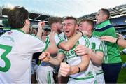 19 January 2020; Darren Mullen of Ballyhale Shamrocks, centre, and his team-mates celebrate after the AIB GAA Hurling All-Ireland Senior Club Championship Final between Ballyhale Shamrocks and Borris-Ileigh at Croke Park in Dublin. Photo by Piaras Ó Mídheach/Sportsfile