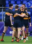 21 January 2020; Alex Walsh of The Kings Hospital celebrates with team-mates following the Bank of Ireland Vinnie Murray Cup Semi-Final match between The King's Hospital and CUS at Energia Park in Dublin. Photo by Sam Barnes/Sportsfile