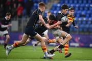 21 January 2020; Dan Walsh of The High School in action against Patrick Kiernan of Temple Carrig School during the Bank of Ireland Vinnie Murray Cup Semi-Final match between Temple Carrig School and The High School at Energia Park in Dublin. Photo by Sam Barnes/Sportsfile