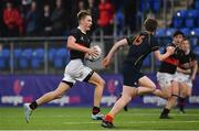 21 January 2020; Adam Killeen of The High School in action against Thade Shanahan of Temple Carrig School during the Bank of Ireland Vinnie Murray Cup Semi-Final match between Temple Carrig School and The High School at Energia Park in Dublin. Photo by Sam Barnes/Sportsfile