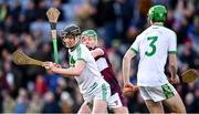 19 January 2020; Darragh Corcoran of Ballyhale Shamrocks in action against James Devaney of Borris-Ileigh during the AIB GAA Hurling All-Ireland Senior Club Championship Final between Ballyhale Shamrocks and Borris-Ileigh at Croke Park in Dublin. Photo by Piaras Ó Mídheach/Sportsfile