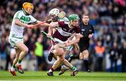 19 January 2020; James Devaney of Borris-Ileigh gets past Richie Reid, left, and Michael Fennelly of Ballyhale Shamrocks during the AIB GAA Hurling All-Ireland Senior Club Championship Final between Ballyhale Shamrocks and Borris-Ileigh at Croke Park in Dublin. Photo by Piaras Ó Mídheach/Sportsfile