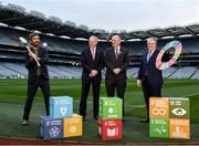24 January 2020; Former Wexford hurler Diarmuid Lyng, Chariman of Local Autority Climate Change Steering Group Ciarán Hayes, Uachtarán Chumann Lúthchleas Gael John Horan and Chairman of CCMA Michael Walsh in attendance at the GAA Local Authority SDG Launch at Croke Park in Dublin. Photo by Harry Murphy/Sportsfile