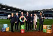 24 January 2020; LGFA CEO Helen O'Rourke, Chairman of CCMA Michael Walsh, Uachtarán Chumann Lúthchleas Gael John Horan, Chariman of Local Autority Climate Change Steering Group Ciarán Hayes, Camogie Operations Manager Alan Malone, DCCAE Katie Aherne and former Wexford hurler Diarmuid Lyng in attendance at the GAA Local Authority SDG Launch at Croke Park in Dublin. Photo by Harry Murphy/Sportsfile