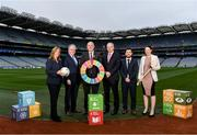 24 January 2020; LGFA CEO Helen O'Rourke, Chairman of CCMA Michael Walsh, Uachtarán Chumann Lúthchleas Gael John Horan, Chariman of Local Autority Climate Change Steering Group Ciarán Hayes, Camogie Operations Manager Alan Malone and DCCAE Katie Aherne in attendance at the GAA Local Authority SDG Launch at Croke Park in Dublin. Photo by Harry Murphy/Sportsfile