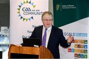 24 January 2020; Chairman CCMA Michael Walsh speaks at the GAA Local Authority SDG Launch at Croke Park in Dublin. Photo by Harry Murphy/Sportsfile