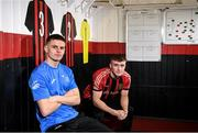 24 January 2020; Bohemian FC players Paddy Kirk, left, and Danny Grant pictured at the launch of the National College of Ireland's partnership with Bohemian FC at Dalymount Park in Dublin. Photo by Harry Murphy/Sportsfile