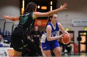 24 January 2020; Kellie Raethorne of Waterford Wildcats in action against Shauna Dooley of Portlaoise Panthers during the Hula Hoops U18 Women's National Cup Final match between Portlaoise Panthers and Waterford Wildcats at the National Basketball Arena in Tallaght, Dublin. Photo by Brendan Moran/Sportsfile