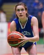 24 January 2020; Anna Grogan of Waterford Wildcats during the Hula Hoops U18 Women's National Cup Final match between Portlaoise Panthers and Waterford Wildcats at the National Basketball Arena in Tallaght, Dublin. Photo by Brendan Moran/Sportsfile