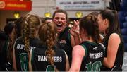 24 January 2020; Hannah Collins of Portlaoise Panthers celebrates with her team-mates after the Hula Hoops U18 Women's National Cup Final match between Portlaoise Panthers and Waterford Wildcats at the National Basketball Arena in Tallaght, Dublin. Photo by Daniel Tutty/Sportsfile