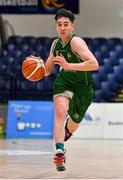 25 January 2020; James Cummins of Moycullen during the Hula Hoops U20 Men's National Cup Final between Moycullen and UCD Marian at the National Basketball Arena in Tallaght, Dublin. Photo by Brendan Moran/Sportsfile