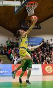 25 January 2020; Ronan Byrne of UCD Marian in action against Tommy McNeela of Moycullen the Hula Hoops U20 Men's National Cup Final between Moycullen and UCD Marian at the National Basketball Arena in Tallaght, Dublin. Photo by Brendan Moran/Sportsfile