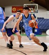 25 January 2020; Kelvin O'Donoghue of Neptune in action against Christopher Fulton of Belfast Star during the Hula Hoops U18 Men's National Cup Final between Neptune and Belfast Star at the National Basketball Arena in Tallaght, Dublin. Photo by Brendan Moran/Sportsfile