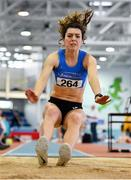 25 January 2020; Grace Furlong of Waterford A.C., competing in the U23 Women's Long Jump during the Irish Life Health National Indoor Junior and U23 Championships at the AIT Indoor Arena in Athlone, Westmeath. Photo by Sam Barnes/Sportsfile