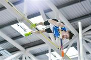 25 January 2020; Matthew Callinan Keenan of St. Laurence O'Toole A.C., Carlow, competing in the U23 Men's Pole Vault during the Irish Life Health National Indoor Junior and U23 Championships at the AIT Indoor Arena in Athlone, Westmeath. Photo by Sam Barnes/Sportsfile