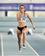 25 January 2020; Ciara Neville of Emerald A.C., Limerick, on her way to winning the U23 Women's 60m during the Irish Life Health National Indoor Junior and U23 Championships at the AIT Indoor Arena in Athlone, Westmeath. Photo by Sam Barnes/Sportsfile