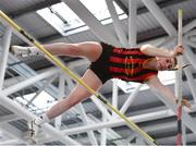25 January 2020; Anna Ryan of Moycarkey Coolcroo A.C., Tipperary, competing in the Junior Women's Pole Vault during the Irish Life Health National Indoor Junior and U23 Championships at the AIT Indoor Arena in Athlone, Westmeath. Photo by Sam Barnes/Sportsfile