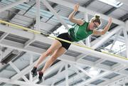 25 January 2020; Abbie O Neill of Ballymena & Antrim A.C., Co. Antrim , competing in the Junior Women's Pole Vault during the Irish Life Health National Indoor Junior and U23 Championships at the AIT Indoor Arena in Athlone, Westmeath. Photo by Sam Barnes/Sportsfile