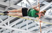 25 January 2020; Abbie O'Neill of Ballymena & Antrim A.C., competing in the Junior Women's Pole Vault during the Irish Life Health National Indoor Junior and U23 Championships at the AIT Indoor Arena in Athlone, Westmeath. Photo by Sam Barnes/Sportsfile