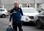 25 January 2020; Limerick manager John Kiely arrives for the Allianz Hurling League Division 1 Group A Round 1 match between Tipperary and Limerick at Semple Stadium in Thurles, Tipperary. Photo by Diarmuid Greene/Sportsfile