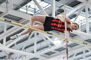 25 January 2020; Anna Ryan of Moycarkey Coolcroo A.C., Co. Tipperary, competing in the Junior Women's Pole Vault during the Irish Life Health National Indoor Junior and U23 Championships at the AIT Indoor Arena in Athlone, Westmeath. Photo by Sam Barnes/Sportsfile