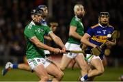 25 January 2020; Darragh O'Donovan of Limerick in action against Alan Flynn of Tipperary during the Allianz Hurling League Division 1 Group A Round 1 match between Tipperary and Limerick at Semple Stadium in Thurles, Tipperary. Photo by Diarmuid Greene/Sportsfile