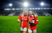 25 January 2020; Saoirse Noonan, left, and Ashling Hutchings of Cork celebrate following the 2020 Lidl Ladies National Football League Division 1 Round 1 match between Cork and Westmeath at Páirc Ui Chaoimh in Cork. Photo by David Fitzgerald/Sportsfile