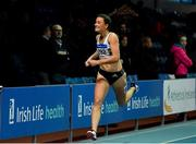 25 January 2020; Ciara Neville of Emerald A.C., Limerick, on her way to winning the U23 Women's 200m during the Irish Life Health National Indoor Junior and U23 Championships at the AIT Indoor Arena in Athlone, Westmeath. Photo by Sam Barnes/Sportsfile