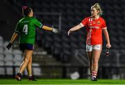 25 January 2020; Saoirse Noonan of Cork shakes hands with Lucy Power of Westmeath following the 2020 Lidl Ladies National Football League Division 1 Round 1 match between Cork and Westmeath at Páirc Ui Chaoimh in Cork. Photo by David Fitzgerald/Sportsfile