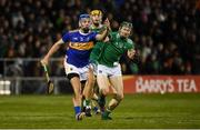 25 January 2020; John McGrath of Tipperary in action against William O'Donoghue of Limerick during the Allianz Hurling League Division 1 Group A Round 1 match between Tipperary and Limerick at Semple Stadium in Thurles, Tipperary. Photo by Diarmuid Greene/Sportsfile
