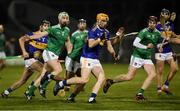 25 January 2020; Jake Morris of Tipperary in action against Robbie Hanley of Limerick during the Allianz Hurling League Division 1 Group A Round 1 match between Tipperary and Limerick at Semple Stadium in Thurles, Tipperary. Photo by Diarmuid Greene/Sportsfile