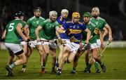 25 January 2020; Jake Morris of Tipperary in action against Tom Condon and Robbie Hanley of Limerick during the Allianz Hurling League Division 1 Group A Round 1 match between Tipperary and Limerick at Semple Stadium in Thurles, Tipperary. Photo by Diarmuid Greene/Sportsfile