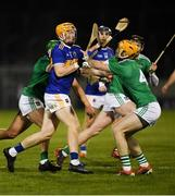 25 January 2020; Jake Morris of Tipperary in action against Richie English of Limerick during the Allianz Hurling League Division 1 Group A Round 1 match between Tipperary and Limerick at Semple Stadium in Thurles, Tipperary. Photo by Diarmuid Greene/Sportsfile