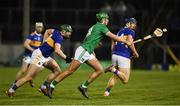 25 January 2020; Robbie Hanley of Limerick in action against Paddy Cadell and Jason Forde of Tipperary during the Allianz Hurling League Division 1 Group A Round 1 match between Tipperary and Limerick at Semple Stadium in Thurles, Tipperary. Photo by Diarmuid Greene/Sportsfile