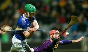 25 January 2020; Ross King of Laois in action against Paudie Foley of Wexford during the Allianz Hurling League Division 1 Group B Round 1 match between Laois and Wexford at MW Hire O'Moore Park in Portlaoise, Co Laois. Photo by Michael P Ryan/Sportsfile