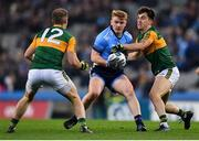 25 January 2020; Conor Mchugh of Dublin in action against Brian Ó Beaglaoich, right, and Stephen O'Brien of Kerry during the Allianz Football League Division 1 Round 1 match between Dublin and Kerry at Croke Park in Dublin. Photo by Ben McShane/Sportsfile