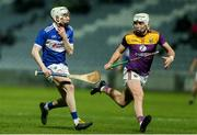 25 January 2020; Stephen Bergin of Laois in action against Rory O'Connor of Wexford during the Allianz Hurling League Division 1 Group B Round 1 match between Laois and Wexford at MW Hire O'Moore Park in Portlaoise, Co Laois. Photo by Michael P Ryan/Sportsfile