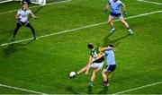 25 January 2020; David Clifford of Kerry, 14, shoots past Dublin's Eoin Murchan, 7 and goalkeeper Evan Comerford to score a goal in the 18th minute of the Allianz Football League Division 1 Round 1 match between Dublin and Kerry at Croke Park in Dublin. Photo by Ray McManus/Sportsfile
