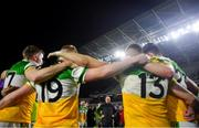 25 January 2020; Offaly manager John Maughan addresses his players following the Allianz Football League Division 3 Round 1 match between Cork and Offaly at Páirc Ui Chaoimh in Cork. Photo by David Fitzgerald/Sportsfile