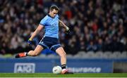 25 January 2020; Dean Rock of Dublin shoots to score his side's first goal, a penalty, during the Allianz Football League Division 1 Round 1 match between Dublin and Kerry at Croke Park in Dublin. Photo by Ben McShane/Sportsfile