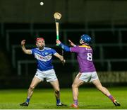 25 January 2020; Jack Kelly of Laois in action against Kevin Foley of Wexford during the Allianz Hurling League Division 1 Group B Round 1 match between Laois and Wexford at MW Hire O'Moore Park in Portlaoise, Co Laois. Photo by Michael P Ryan/Sportsfile
