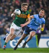 25 January 2020; Tommy Walsh of Kerry and Ciarán Kilkenny of Dublin during the Allianz Football League Division 1 Round 1 match between Dublin and Kerry at Croke Park in Dublin. Photo by Ramsey Cardy/Sportsfile